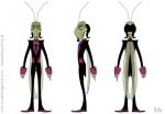 Cartoon Cricket Character Design