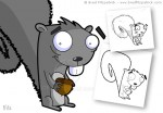 Cartoon Squirrel Character Design