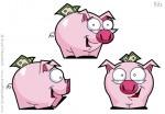 Cartoon Piggy Bank Character Design
