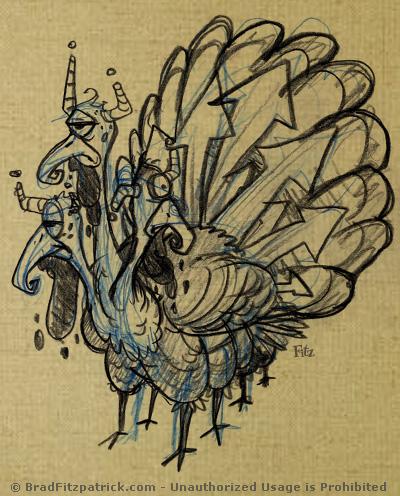 alien thanksgiving turkey drawings
