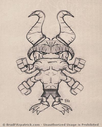 cartoon alien warrior drawings & sketches