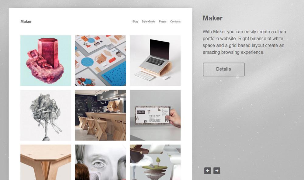 Maker - Free Wordpress Portfolio Theme by Dmitry of Theme Patio