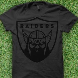 Black Raiders Football Shirt Winslow Maine